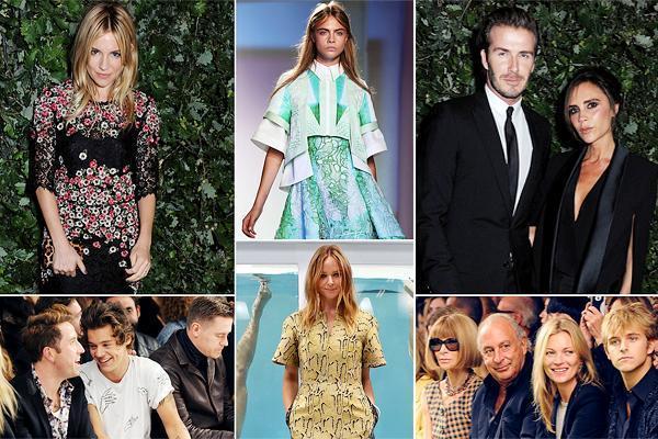Селебрити на Лондонской Неделе Моды
