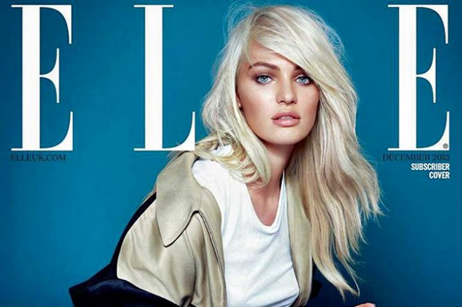 Кэндис Свэйнпоул на обложке Elle UK