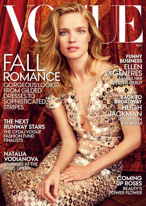 Наталья Водянова на обложке американского Vogue
