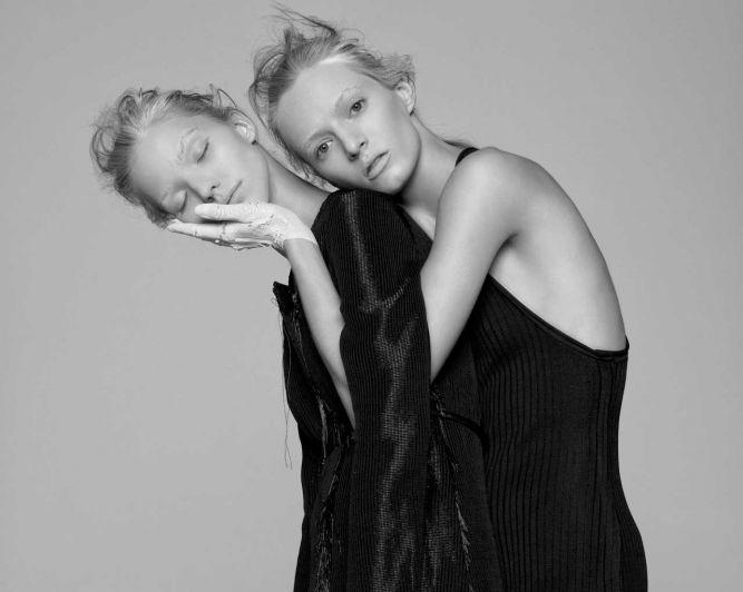 Саша Лусс и Дарья Строкоус для V magazine