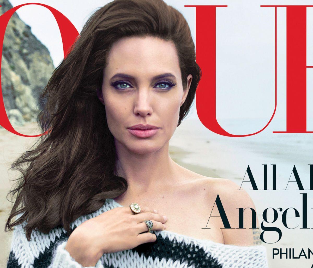 Анджелина Джоли с семьей в фотосессии Энни Лейбовиц для Vogue