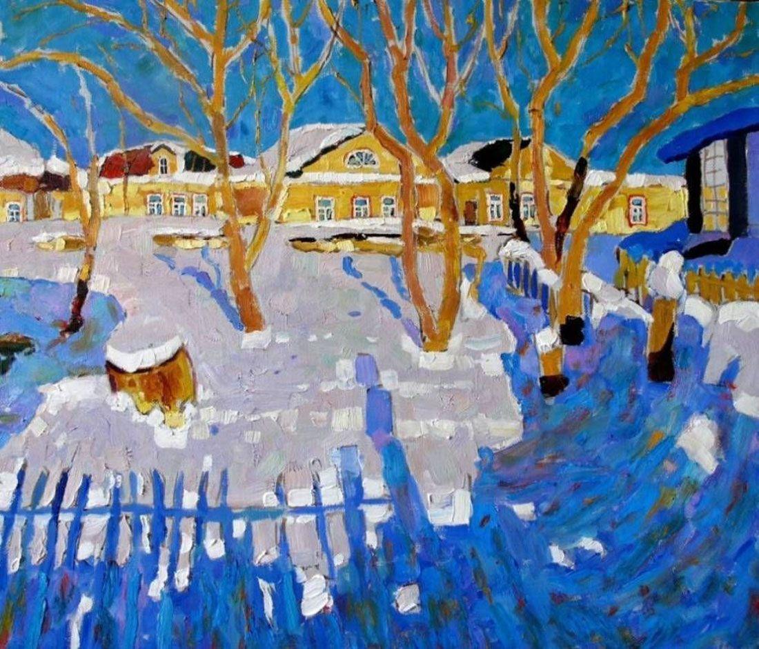 Зима-зимушка на картинах художников