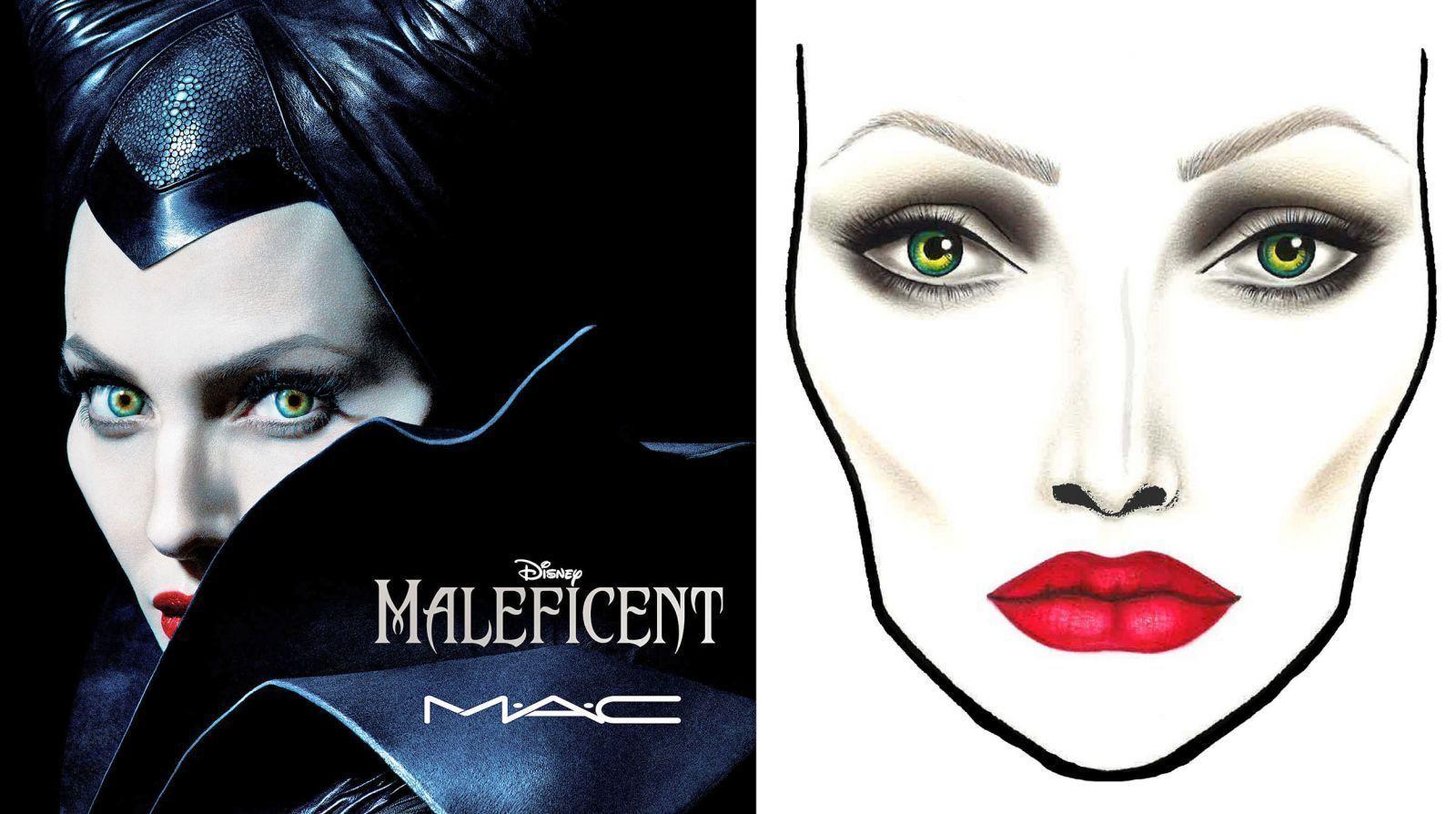 Малефисента макияж
