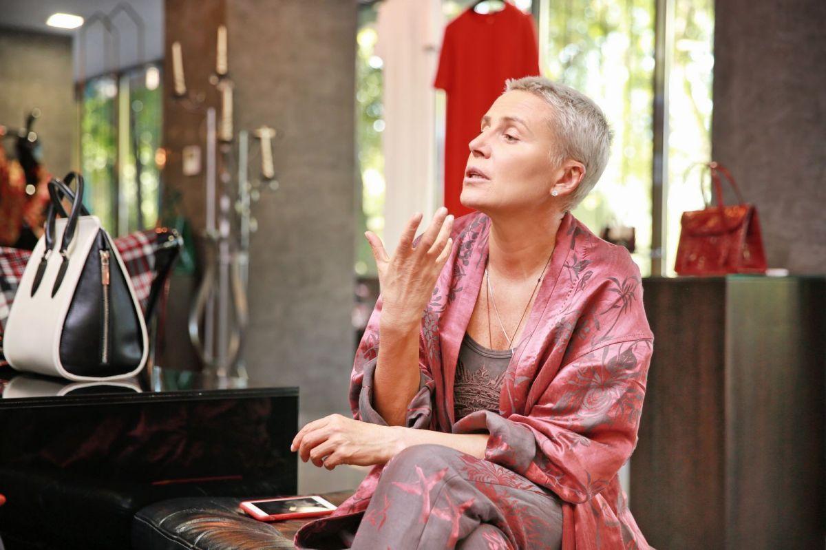 Интервью с Лилией Рах в алматинском бутике Sauvage