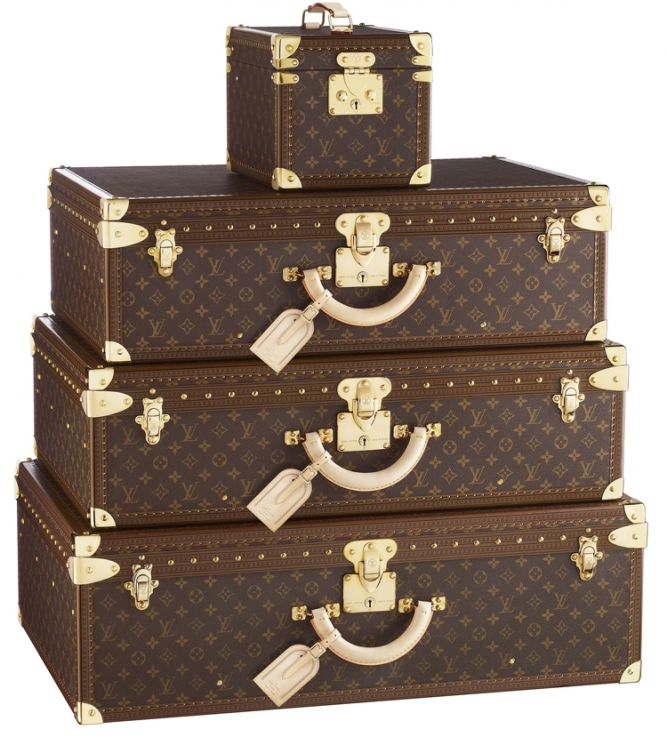 Lui vuitton-чемоданы акции окей чемоданы